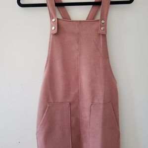 H&M Soft Pink Overall Dress